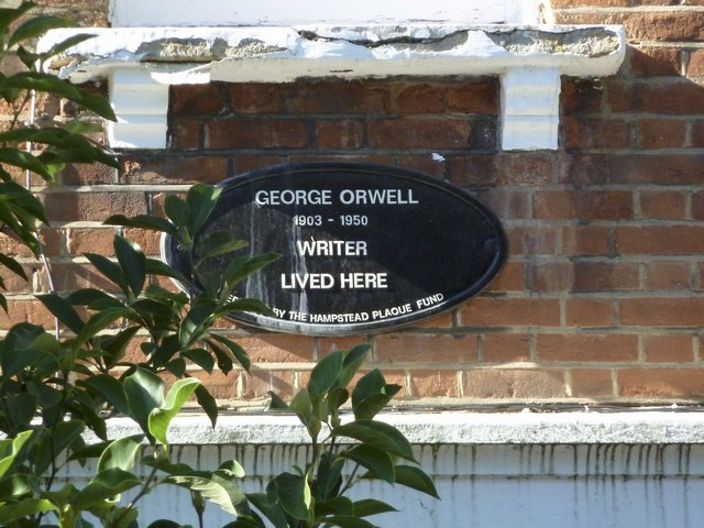 Picture of the house where George Orwell lived in 1935.